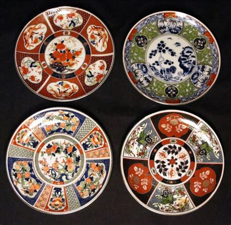 Ebay Decorative Wall Plates by Set Of 4 Vintage 6 Quot Japanese Design Decorative Wall Plates