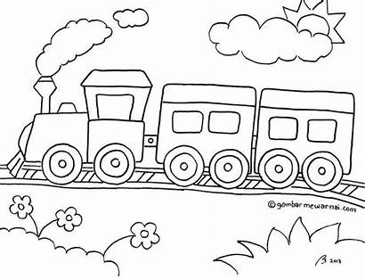 Gambar Mewarnai Kereta Api Untuk Sketsa Diwarnai