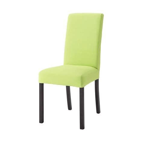housse de chaise maison du monde housse de chaise en coton verte margaux maisons du monde
