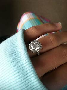 harry winston style cushion micropave halo engagement ring With dream wedding ring