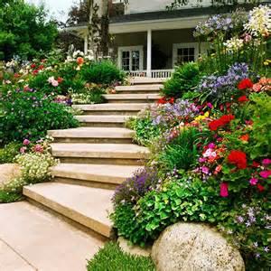 Garden Steps On a Slope