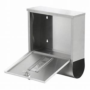 waterproof stainless steel lockable mailbox holder outdoor With letter box holder