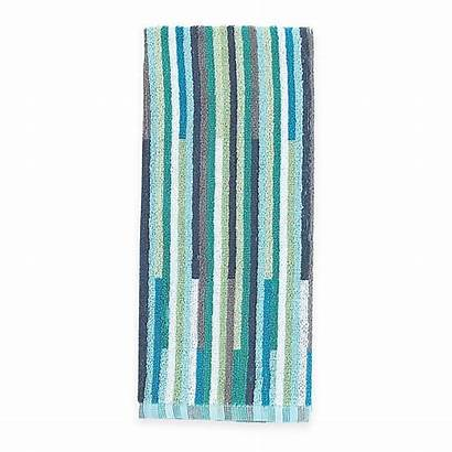 Teal Towel Kitchen Stripe Towels Aria Duo