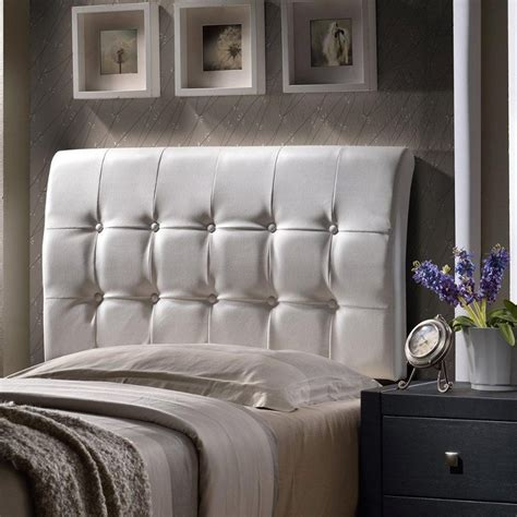 Lusso White Upholstered Queen Headboard