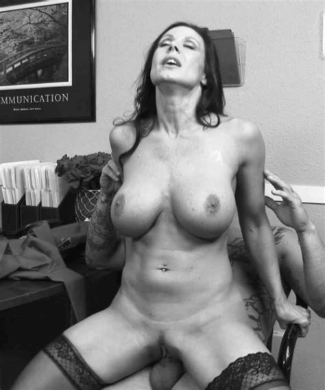 sexy customer service milf adjusts herself to the hot