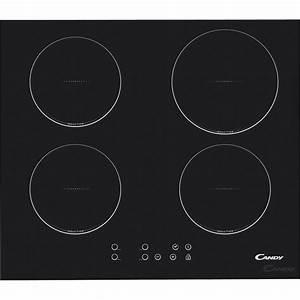 Plaque Pour Induction : plaque induction 4 foyers noir candy ci640c leroy merlin ~ Premium-room.com Idées de Décoration