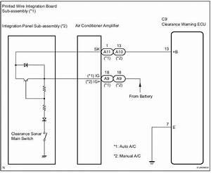 Toyota Sienna Service Manual  Clearance Warning Ecu Power