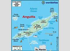 Anguilla Map Geography of Anguilla Map of Anguilla