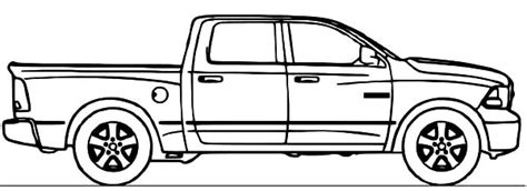 dodge car ram truck coloring pages coloring sky