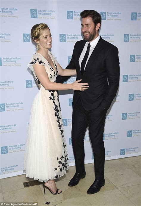 Apparently, not everybody knows this — certainly not the london customs agent krasinski dealt with while visiting his movie star wife during production on. Emily Blunt stuns in low-cut sheer dress with John ...