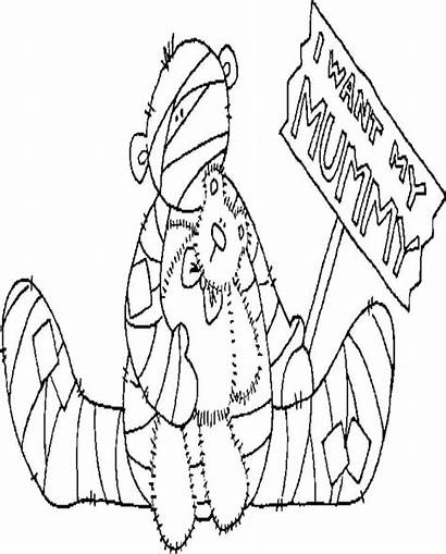 Mummy Sitting Halloween Coloring Pages