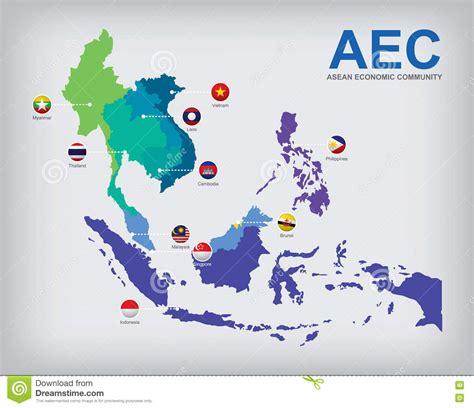 asean economic community aec map aec countries map stock vector image of myanmar flag asea