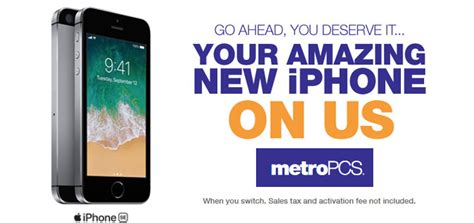 metropcs promotion offers  iphone se  switchers