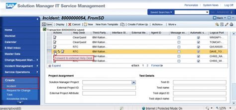 solution manager service desk integrate rational alm applications with sap solution manager