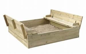 Bac à Sable Bois : bac a sable bancs et couvercle int gr bm cloture jardin ~ Premium-room.com Idées de Décoration