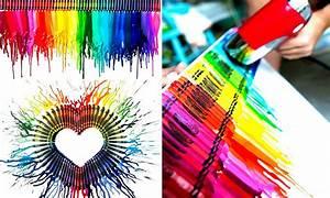 Cómo convertir crayones en increíbles pinturas en 5