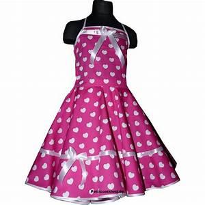 Kleider Zum Schulanfang : m dchenkleid zum petticoat pink mit wei en herzchen tanz ~ Orissabook.com Haus und Dekorationen