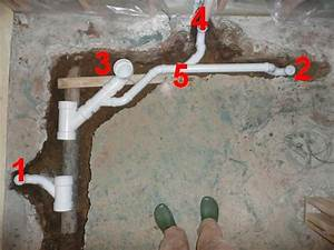 Floor broke up rough in plumb for basement bath for How to rough plumb a bathroom sink