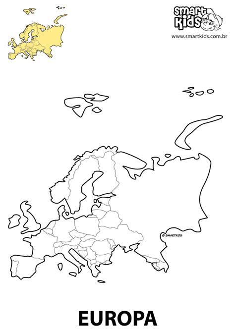 Colorir Desenho Europa Continentes Desenhos para colorir