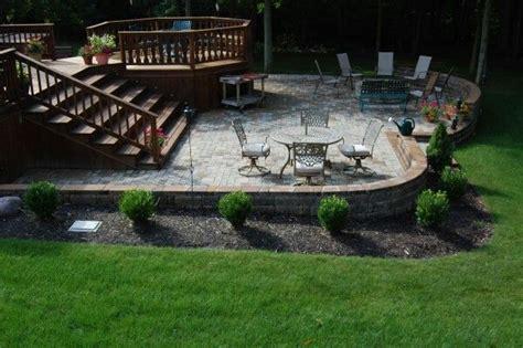 deck patio combo outdoor pinterest