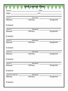 blank preschool lesson plan template 12 sample unit plan templates to download for free