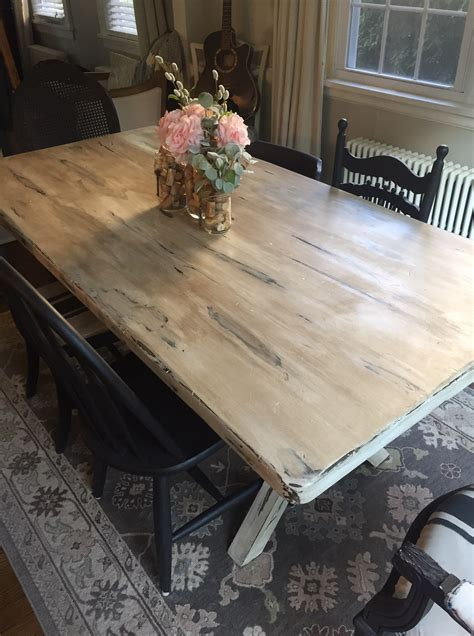 chalk paint dining room table    good idea west