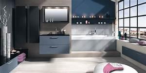 deco salle de bain bleu et gris With salle de bain bleu blanc gris