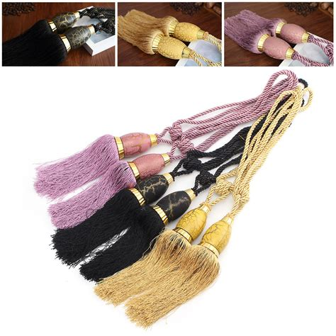 Rope Drapery Tiebacks by 2pcs Tassel Rope Window Curtain Tie Backs Buckles Tie