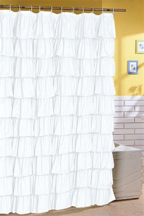 Ruffle Shower Curtain - ruffle fabric shower curtain color white ebay