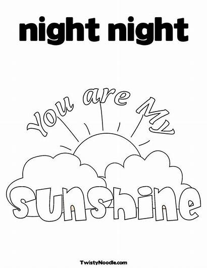 Coloring Pages Night Ty Printable Simple Preschoolers
