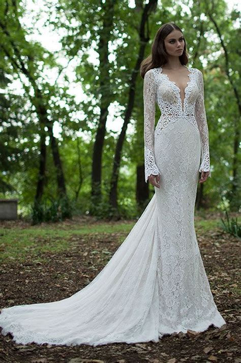 45 Chic Long Sleeve Wedding Dresses New Deer Pearl