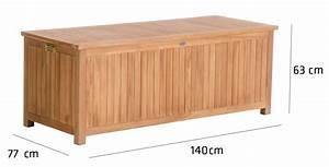 Holz Versiegeln Wasserdicht : teak gartenbox odessa auflagenbox kissenbox holz ~ Lizthompson.info Haus und Dekorationen