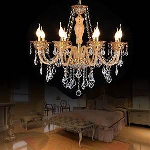 Lustre Cristal Moderne : ambre couleur lustre chambre moderne lustre en cristal clairage 8 feux de luminaires en cristal ~ Teatrodelosmanantiales.com Idées de Décoration