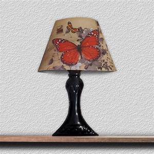 sticker lampe 3d led papillon orange ambiance sticker j5 With carrelage adhesif salle de bain avec led lampe 3d