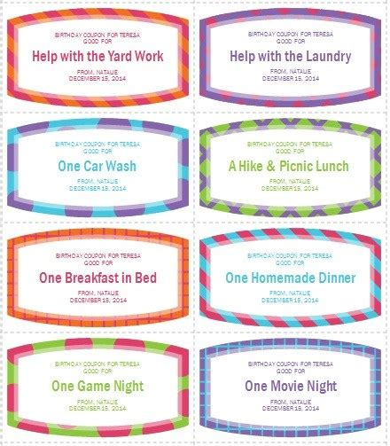 coupon book template word 12 free sle coupon book templates printable sles