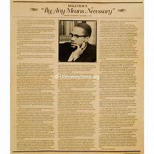 malcolm x quotby any means necessaryquot 1964 storeushistoryorg With malcolm x documents