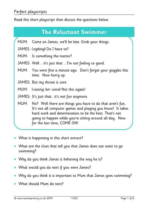 play scripts writing composition ks literacy resources