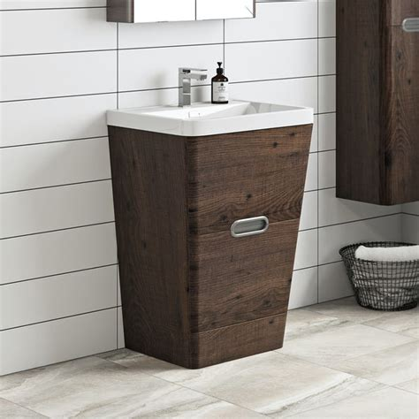 mode sherwood chestnut floor standing vanity unit