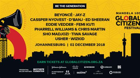 Beyonce, Jay-z, Ed Sheeran To Headline Global Citizen