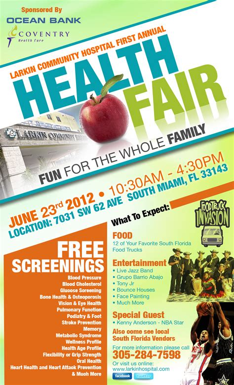 larkin community hospital st annual health fair