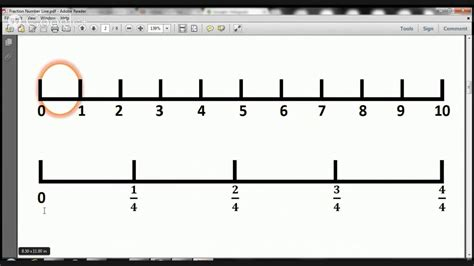 fractions on a number line worksheet check