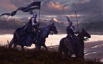 Knight Horse Warrior Armor Flag Army Fantasy