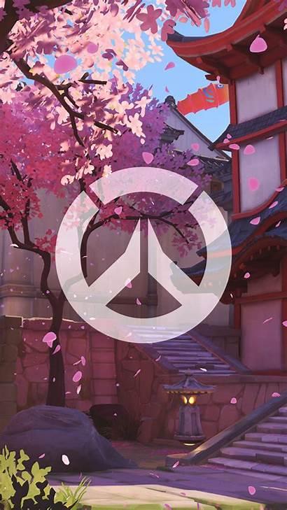 Overwatch Phone Wallpapers Hanamura Iphone Screen Backgrounds