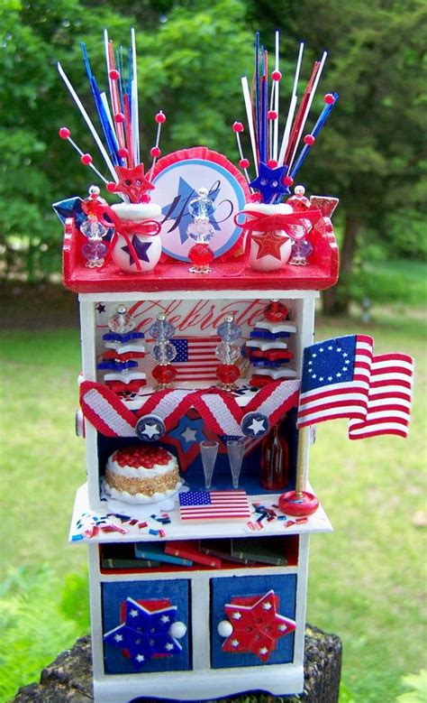 dollhouse miniature americana independence day   july