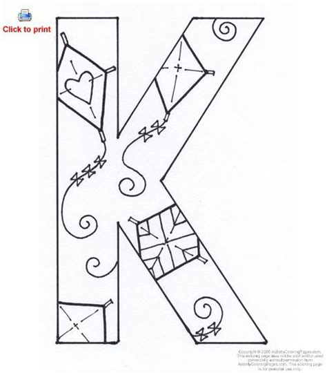 Letter K Activity Coloring Page Printable | letter of the ...