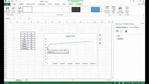 How To Draw Chart In Excel How To Make A Log Chart In Excel Youtube