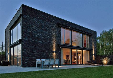black brick house black brick villa with chic scandinavian charm