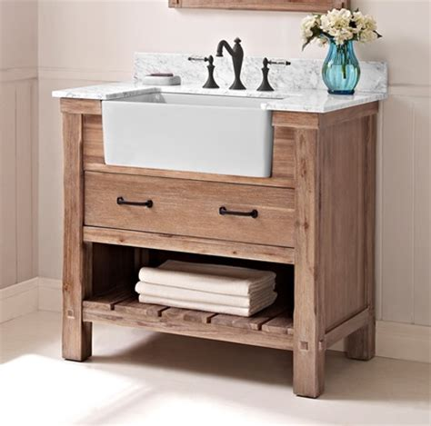 shaker style bathroom vanity napa 36 quot farmhouse vanity sonoma sand fairmont designs