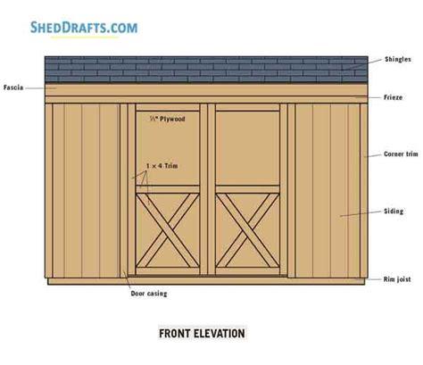 saltbox storage shed plans blueprints