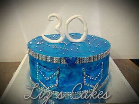 Denim And Diamonds Themed Birthday Cake